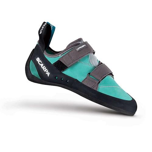 SCARPA Women's Origin Wmn Climbing Shoe [Green Blue/Smoke, 37 M EU / 6 B(M) US]