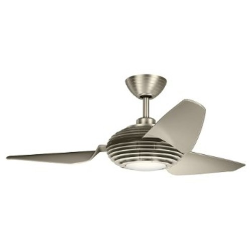 Voya Ceiling Fan [Fan Body and Blade Finish : Brushed Stainless Steel with Silver blades; Fan Blade Span (inches) : 84]