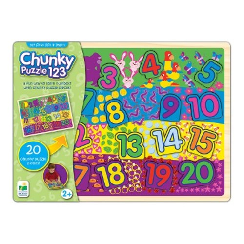 The Learning Journey My First Chunky Lift & Learn 123 Puzzle
