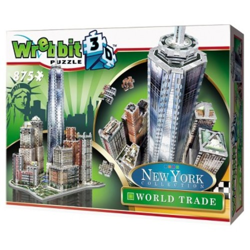 Wrebbit New York Collection World Trade 3D Jigsaw Puzzle - 875-Piece