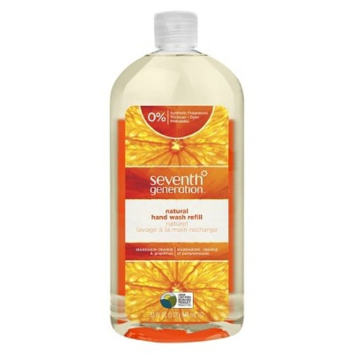 Seventh Generation Natural Hand Wash, Mandarin Orange & Grapefruit, 32 oz Refill Bottle | PJP Marketplace