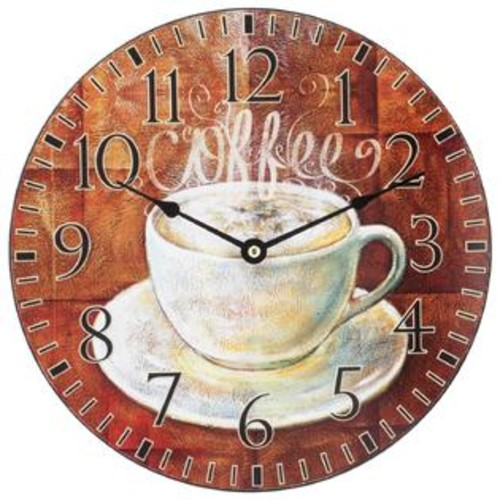 Lacrosse Technology La Crosse 12-inch Round 'Coffee' Wall Clock