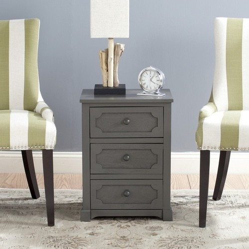 Safavieh Rosaleen Grey 3-Drawer Storage Side Chest