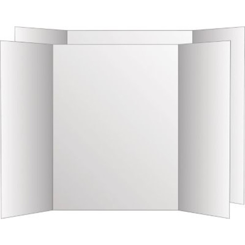 Too Cool Tri-Fold Poster Board, 36 x 48, Black/White, 6/Pack