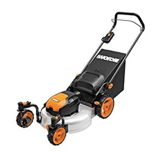 WORX WG719 13 Amp Caster Wheeled Electric Lawn Mower, 19-Inch [Orange and Black]