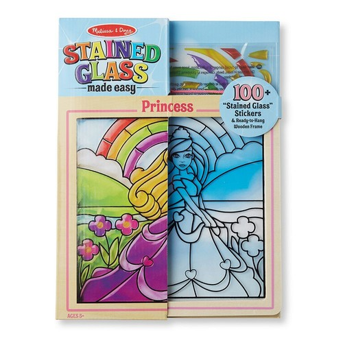 Melissa & Doug Stained Glass Made Easy Activity Kit - Princess