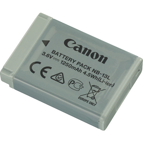 Canon - Rechargeable Lithium-ion Battery for Canon NB-13L