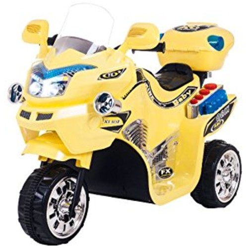 Ride on Toy, 3 Wheel Motorcycle for Kids, Battery Powered Ride On Toy by Lil' Rider  Ride on Toys for Boys and Girls, 2 - 5 Year Old - Yellow FX [Yellow, Frustration-Free Packaging]