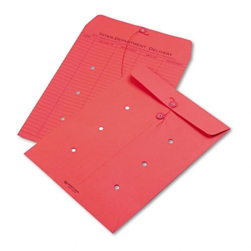 Quality Park QUA63574 Colored Paper String & Button Interoffice Envelope