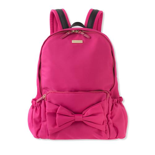 girls' back to school nylon backpack, pink