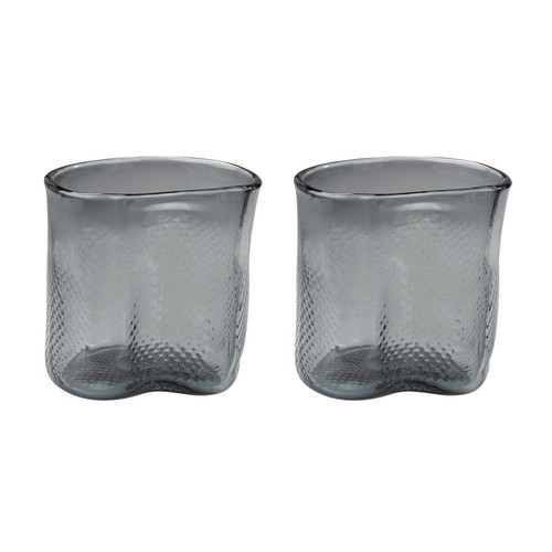 Titan Lighting Fish Net 8 in. Glass Decorative Vases in Gray (Set of 2)