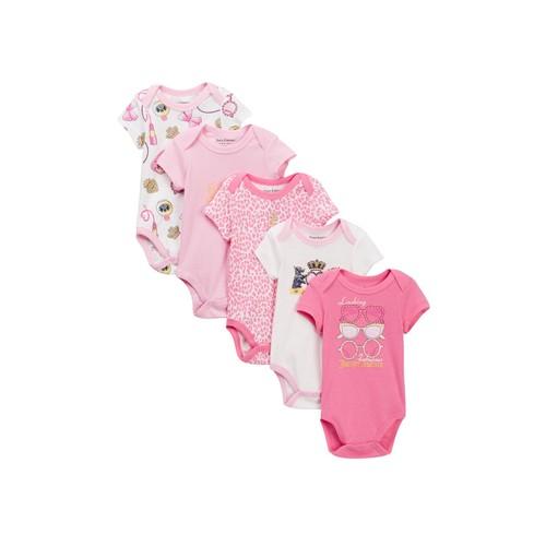 Short Sleeve Bodysuits - Pack of 5 (Baby Girls)