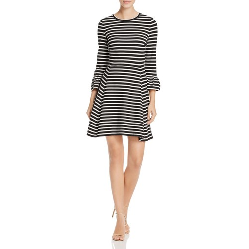 KATE SPADE NEW YORK Ruffle Cuff Stripe Dress