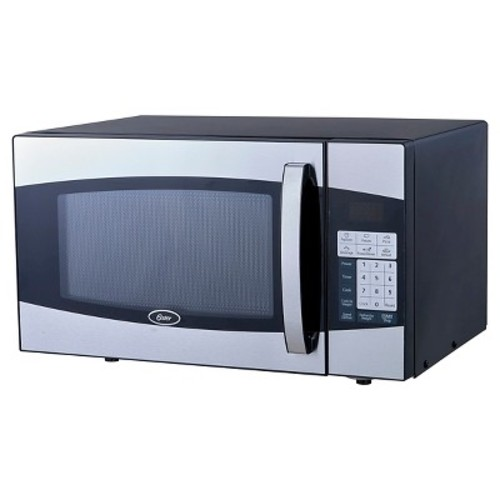 Oster 0.9 Cu. Ft. 900 Watt Digital Microwave Oven - Black & Stainless Steel OXF0901