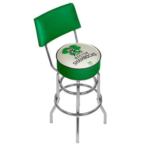 Boston Shamrocks Padded Swivel Bar Stool with Back