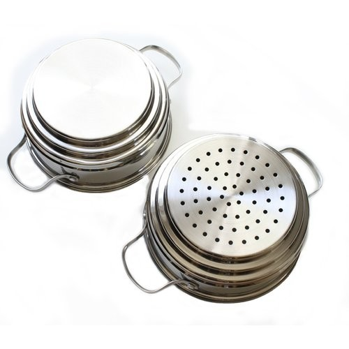 Double Boiler and Steamer Set, Stainless Steel