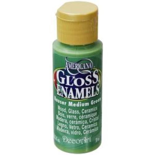 Americana 2 oz. Hauser Medium Green Gloss Enamel Paint