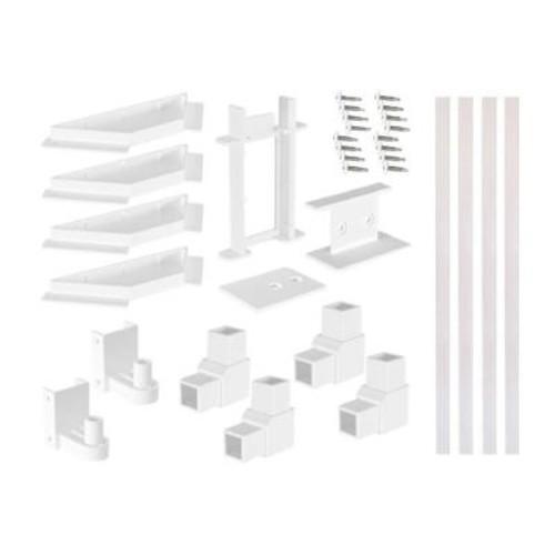SnapFence White Modular Vinyl Fence Gate Kit