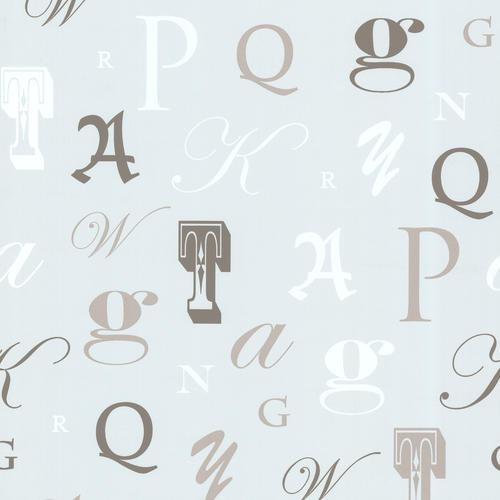 Manuscript Light Blue Letter Font Wallpaper