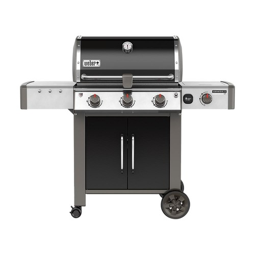 Weber Genesis II LX E-340 3-Burner Natural Gas Grill in Black with Built-In Thermometer and Grill Light