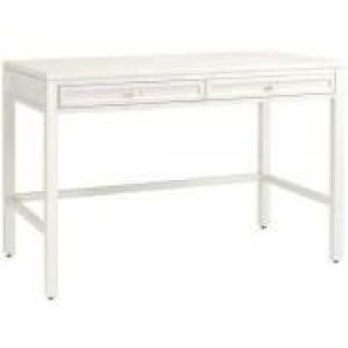 Martha Stewart Living Craft Space 36 in. H 2-Drawer Wood Craft Table in Picket Fence