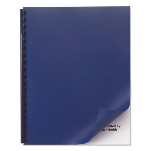 Swingline GBC SWI2514494 Opaque Plastic Presentation Binding System Covers, 11 x 8-1/2, Navy, 50/Pack