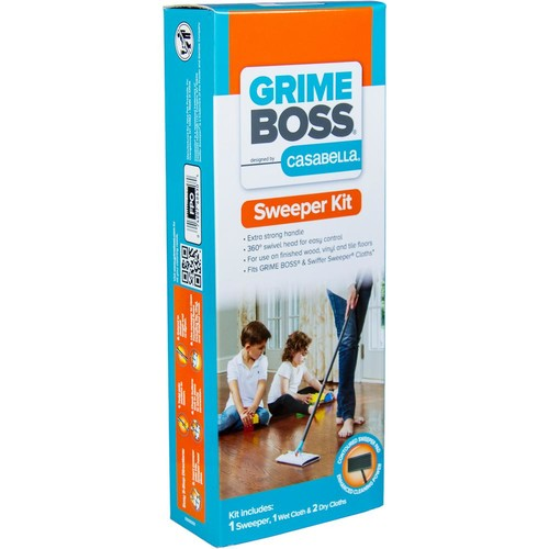 GRIME BOSS 4-Piece Dry or Wet Sweeper Kit