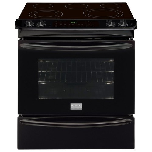 Frigidaire - Gallery 4.6 Cu. Ft. Self-Cleaning Slide-In Electric Convection Range - Black