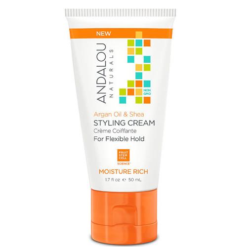 Andalou Naturals Styling Cream Moisrure Rich Argan Oil & Shea -- 1.7 fl oz