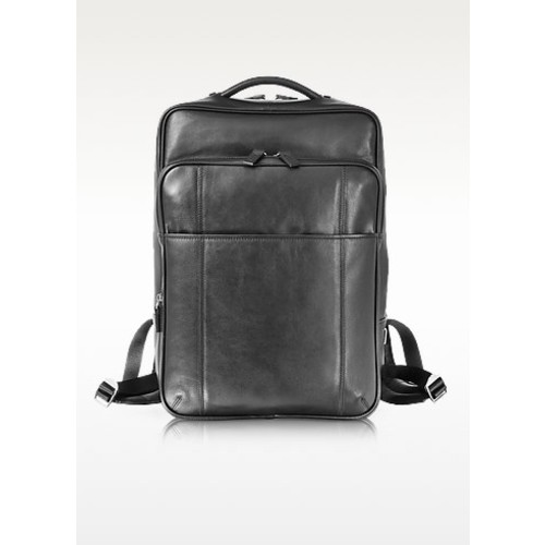 British Black Leather Backpack