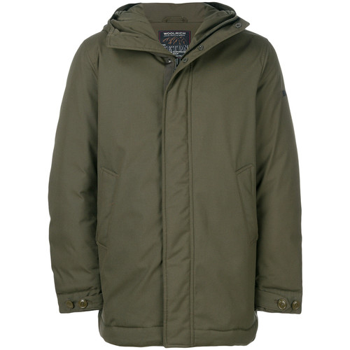oversized hooded down jacket