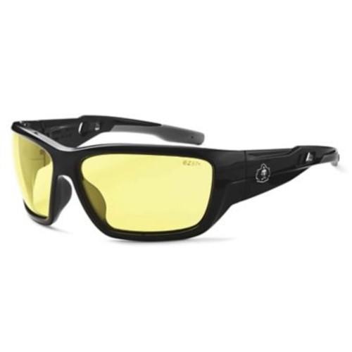 Skullerz BALDR Safety Glasses, Yellow Lens, Black (57050)