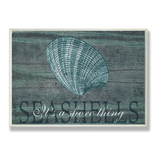 Seashells It's a Shore Thing Wall Plaque