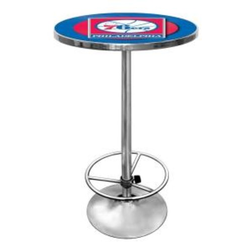 Trademark NBA Philadelphia 76ers Chrome Pub/Bar Table