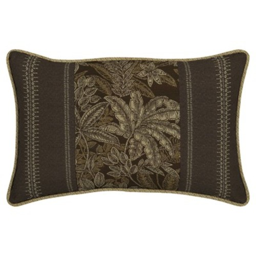 Palmetto Espresso 2pc Outdoor Pieced Face Lumbar Cushion Set - Brown - Bombay Outdoors