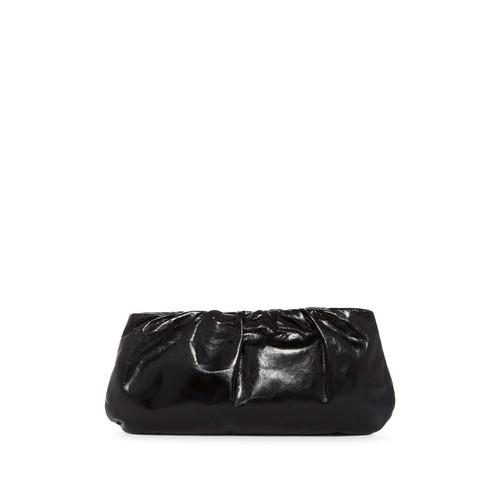 Garland Gathered Leather Clutch