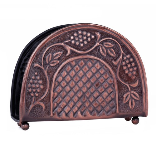 Dutch 7.25 in. x 2 in. x 5.5 in. Antique Embossed Heritage Napkin Holder