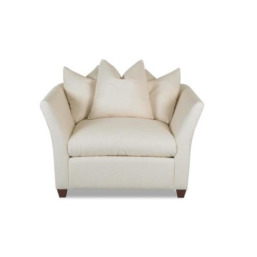 Made to Order Klaussner Fifi Off-White Cushioned, Upholstered Chair