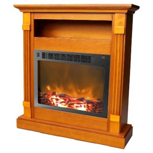 Cambridge - Sienna Electric Fireplace - Teak