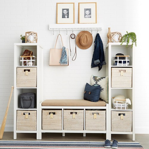 Division Storage Bench White