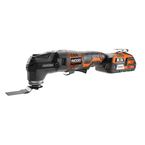 RIDGID 18-Volt Lithium-Ion Cordless JobMax with Tool-Free Head Kit with (1) 1.5Ah Battery and Charger