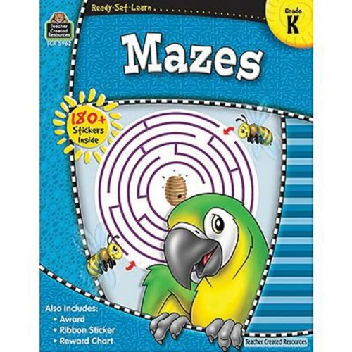Teacher Created Resources Ready -Set -Learn, Mazes Book, Kindergarten
