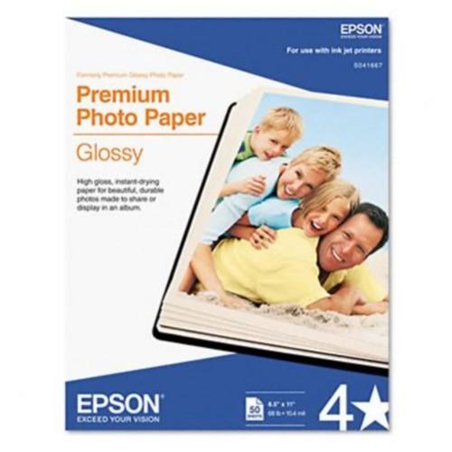 High-Gloss Premium Photo Paper, 8-1/2 x 11, 50 Sheets per Pack