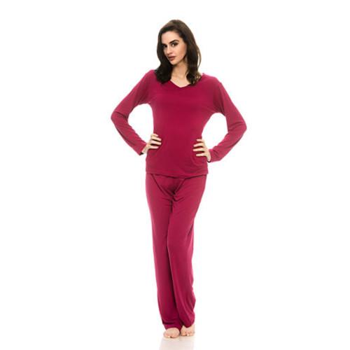 Harve Benard Sueded Micro Pant Pajama Set