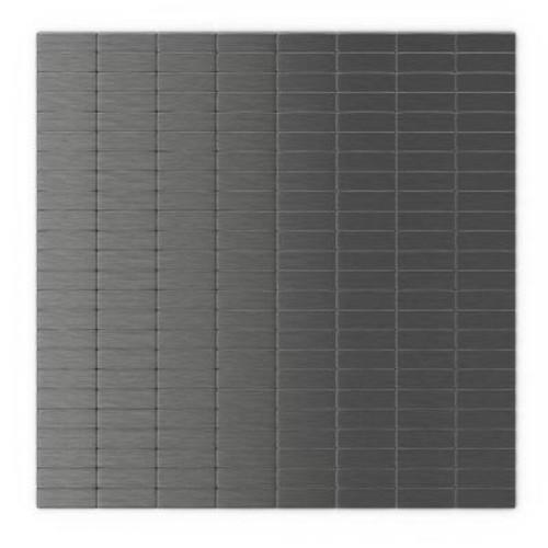 Inoxia SpeedTiles Urbain 11.44 in. x 11.63 in. Self-Adhesive Decorative Wall Tile in Dark Grey (24-Pack)