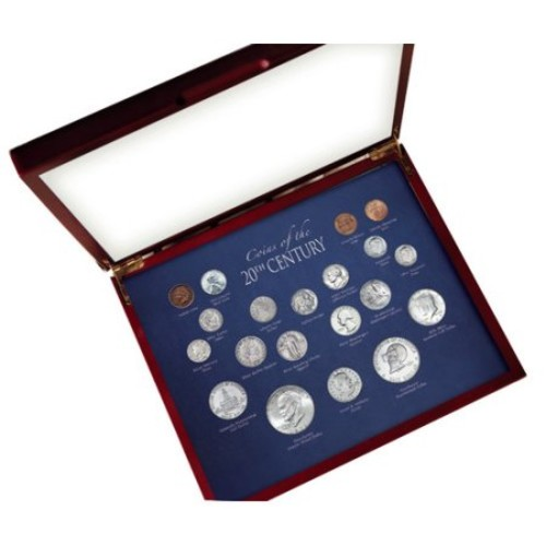 American Coin Treasures Coins of the 20th Century Display Box