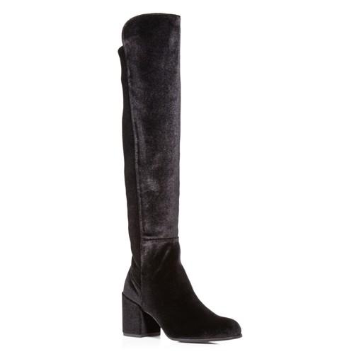 STUART WEITZMAN Women'S Lowjack Velvet Over-The-Knee Boots