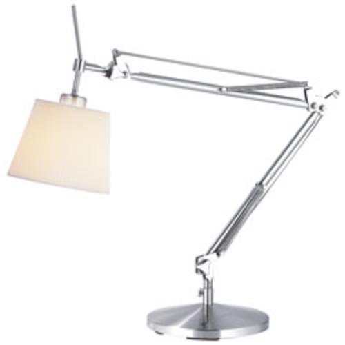 Adesso Architect Desk Lamp, Satin Steel/Natural