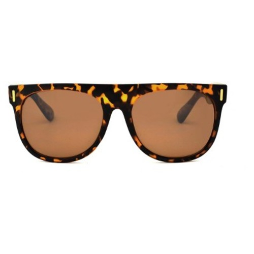 Women's Square Tort Sunglasses - A New Day Brown
