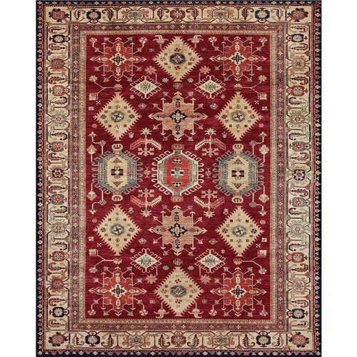 Ruggable Washable Noor Ruby 8 ft. x 10 ft. Stain Resistant Area Rug